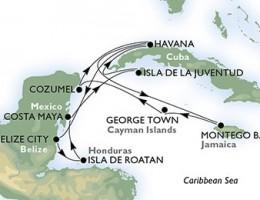 14 Noches por Cuba, Belice, Honduras, México, Jamaica, Gran Caimán a bordo del MSC Armonia