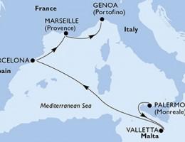 5 Noches por Italia, Malta, España, Francia a bordo del MSC Meraviglia